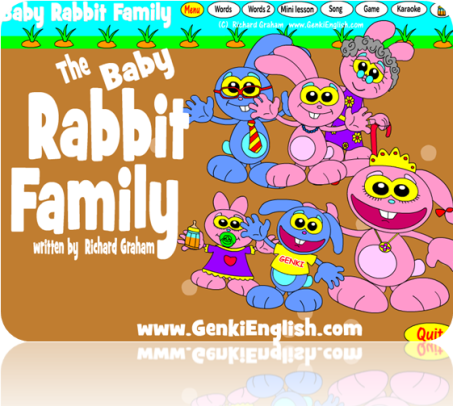 """Baby Rabbit Family Picture Book: """"This is…"""" and """"These are…"""""""
