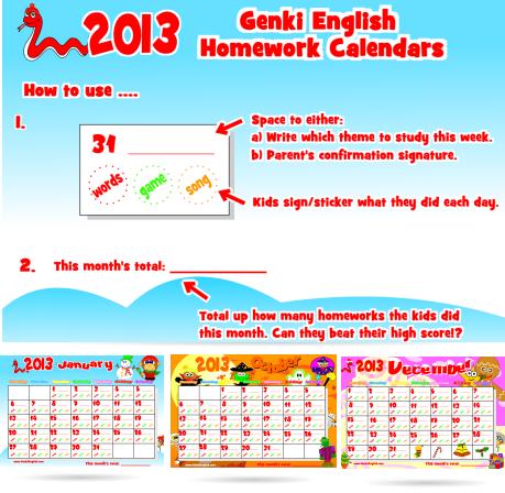 2013 Genki English Calendars – What do you think?