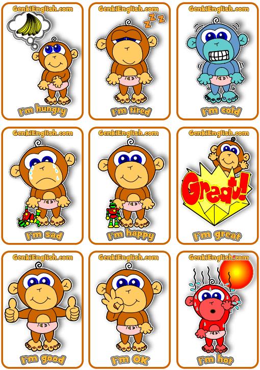 Funky Baby Monkey Minicards!