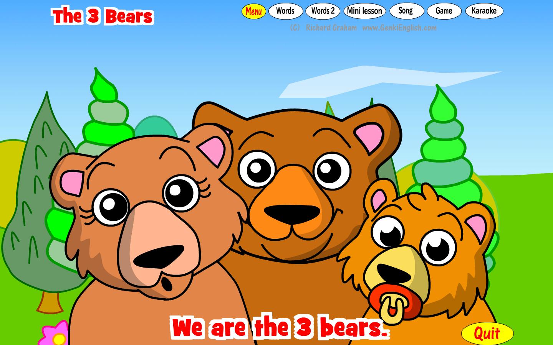 New Lesson, Song & Play: The 3 Bears (Goldilocks Part 2)