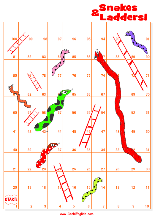 Make Your Own Snakes & Ladders