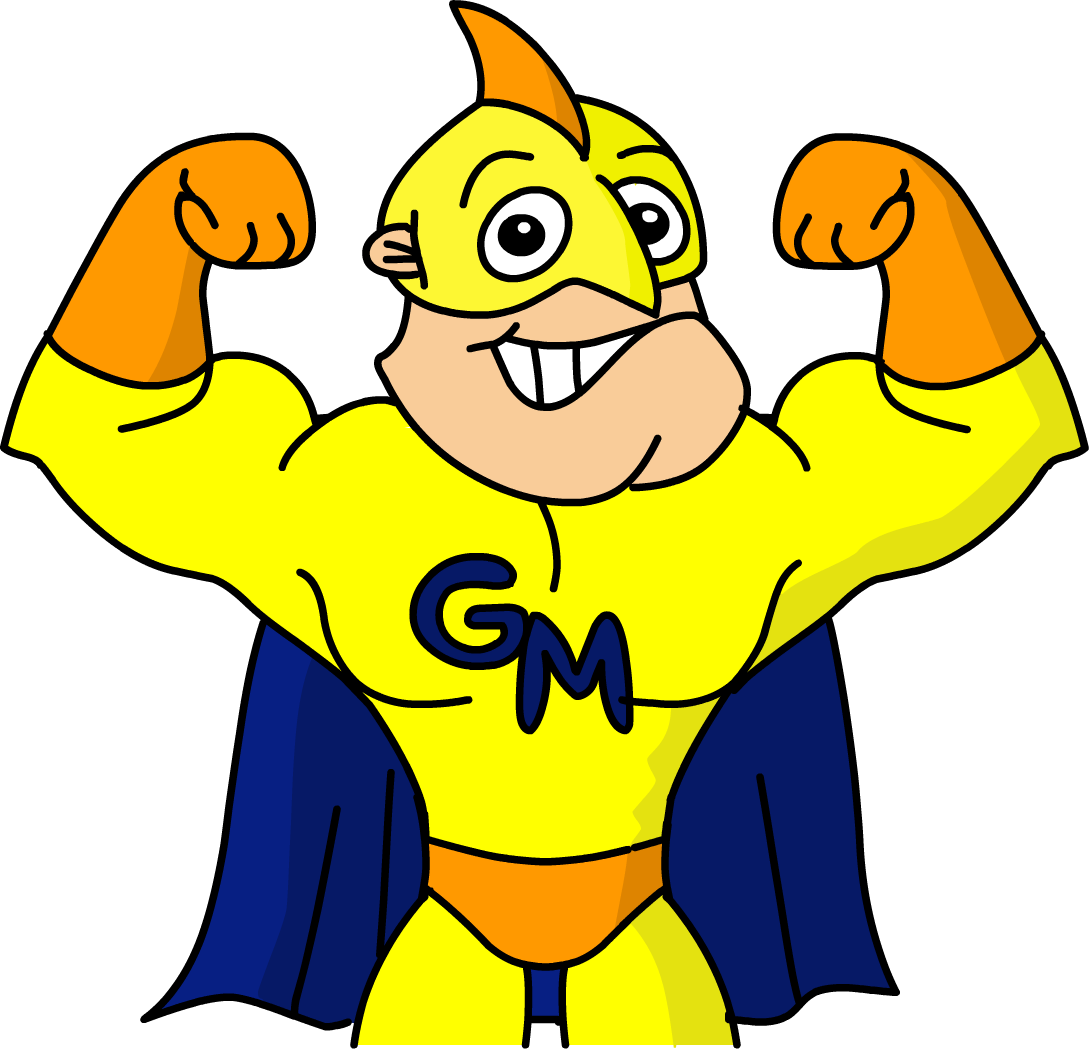superhero arms up