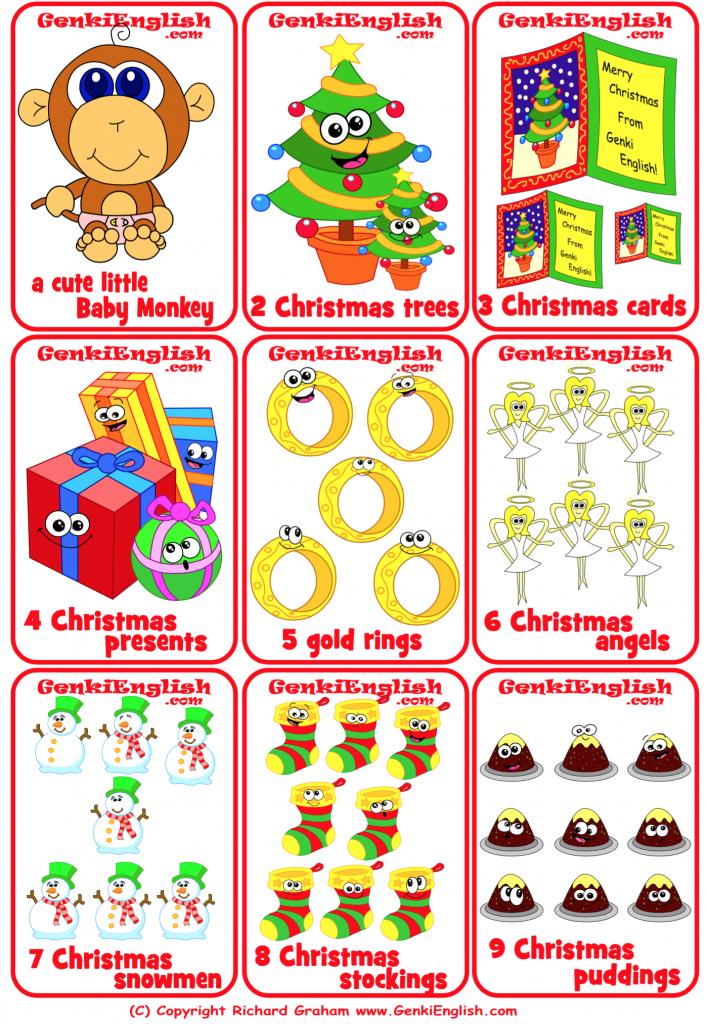 12 Genki Days of Christmas minicards